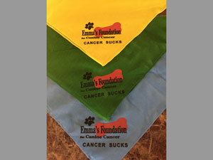 emmas foundation cancer sucks bandanas